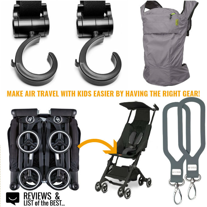 Travel gear for flying with baby and toddlers