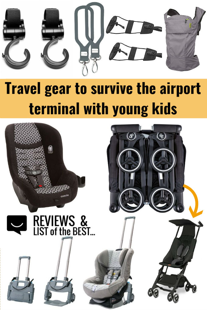 How to survive airport terminals and layover with kids - the best travel gear for families, children, and babies.