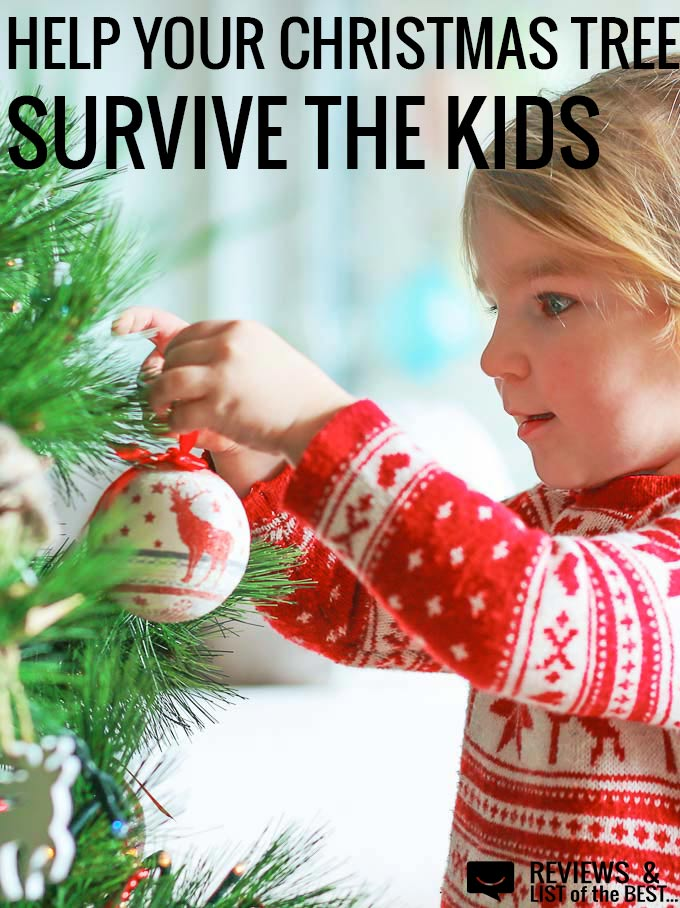 How to protect your kids from the Christmas tree falling on them and protect the tree from being destroyed by a toddler!