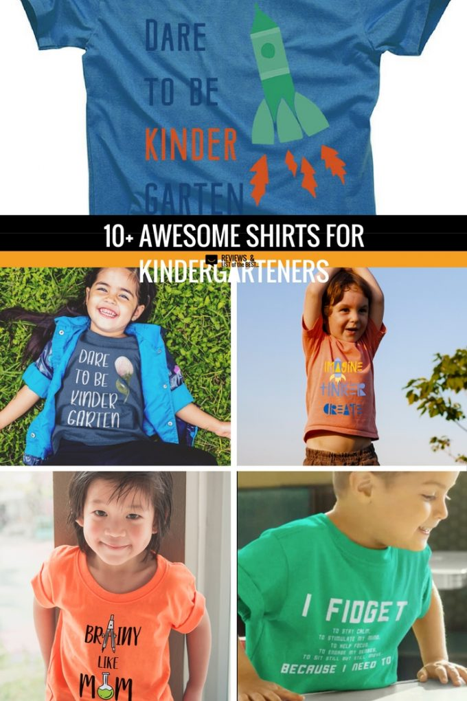 Fun shirts on Amazon for back to school and the first day of kindergarten.