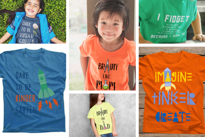 Shirts for new kindergarteners to rock back to school style